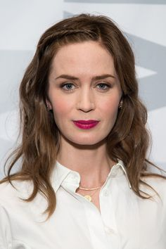Medium hairstyles: Emily Blunt's hairline braid - CosmopolitanUK