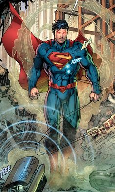 Superman by Jim Lee and Scott Williams. New 52 Superman - Dc comics Marvel Comics, Arte Dc Comics, Comic Book Heroes, Comic Books Art, Comic Art, Dc Heroes, Superman Man Of Steel, Batman And Superman, Superman Family