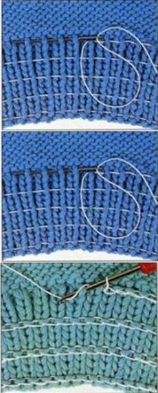 Knitting Pattern for Garter St Knitting Stitches, Hand Knitting, Knitting Socks, Knitting Projects, Crochet Projects, Sewing Projects, Sewing Elastic, Elastic Thread, Knitting Patterns