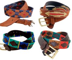 argentina - embroidered leather belts