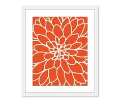 Dahlia Flower No2  Art Print Wall Original  Modern by AldariArt, $18.00