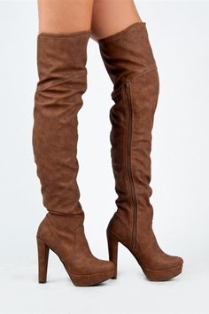 3fbdd47bb6c If u  lt 3 boots  amp  heels. Than look at these beautiful shoes · Brown Thigh  High ...