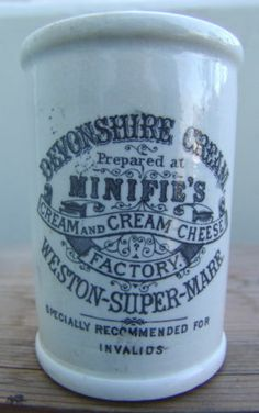 Great Small 'Minifie's Weston Super Mare' Cylinder Cream