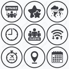 55291613-Orologio-WiFi-e-stelle-icone-icona-di-sciopero-Tempesta-maltempo-e-gruppo-di-persone-segni-simbolo-r-Archivio-Fotografico.jpg (1300×1300)