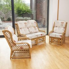 Alfresia 2 Penang Cane and Woven Sea Grass Conservatory Armchairs Bamboo Natural