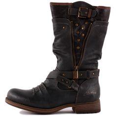 Mustang 1139-609-20 Womens Biker Boots in Dark Grey ee751b61756dc
