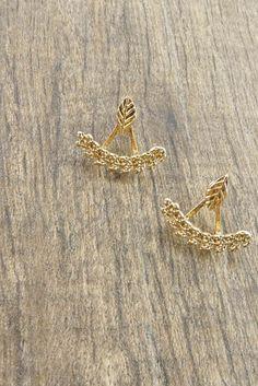 Gold Leaf Ear Jacket