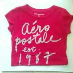 Aeropostal shirt. Size Small Pink Aeropostal shirt. Size small.  I do same day shipping. Buy 1 item get another 1/2 off on entire closet. Aeropostale Tops Tees - Short Sleeve