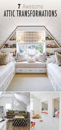 If you're looking to remodel your attic, check out these great tips, ideas and before & afters! #DIYAtticRemodel