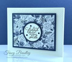 """This card features Stampin' Up! Flowers For Every Season 6"""" x 6"""" Designer Series Paper, Tasteful Textile 3D Embossing Folder and the stamp set, Forever Fern.  Created by Tracy Bradley, Independent Stampin' Up! Demonstrator  www.stampingwithtracy.com Card Kit, I Card, Cards For Friends, Friend Cards, Ocean Photography, Photography Tips, Wedding Photography, Stampin Up Catalog, Vases"""