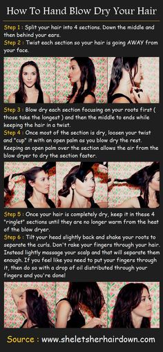 How To Hand Blow Dry Your Hair.. I wonder if this will work with curly hair..?