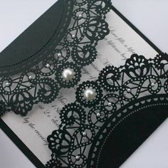 Black and white wedding invitation.  Would be an easy diy #diyinvitation #weddinginvites can do on cricut