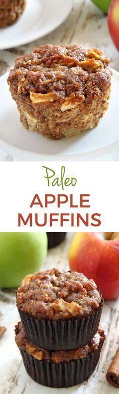 Paleo Apple Muffins – super moist, fuss-free and maple sweetened. #ilovemaple @purecanadamap