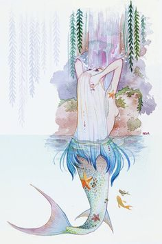 Beautiful mermaids pictures - Hot sexy mermaid pictures posts beautiful mermaid art from many different mermaid artists. Siren Mermaid, Mermaid Lagoon, Mermaid Fairy, Baby Mermaid, Manga Mermaid, Real Mermaids, Mermaids And Mermen, Watercolor Mermaid, Watercolor Painting