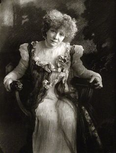 Portrait of Sarah Bernhardt in 1910 by Henry Walter Barnett.