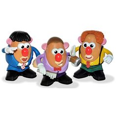 Three Stooges Mr. Potato Heads, $28, now featured on Fab.