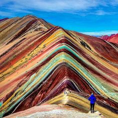 Rainbow Mountains Peru, definitely on my travel bucket list of beautiful places to see! Places Around The World, The Places Youll Go, Places To See, Around The Worlds, Machu Picchu, Adventure Is Out There, Belle Photo, Wonders Of The World, Adventure Travel