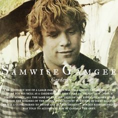 Samwise Gamgee - My favourite LoTR character. Loved the thing that he and Frodo had.