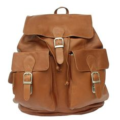 Piel Leather Large Buckle-Flap Backpack * More info could be found at the image url. (This is an Amazon Affiliate link and I receive a commission for the sales)