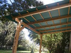 The wooden pergola is a good solution to add beauty to your garden. If you are not ready to spend thousands of dollars for building a cozy pergola then you may devise new strategies of trying out something different so that you can re Gazebo, Pergola With Roof, Outdoor Pergola, Covered Pergola, Metal Pergola, Pergola Shade, Patio Roof, Diy Pergola, Metal Roof