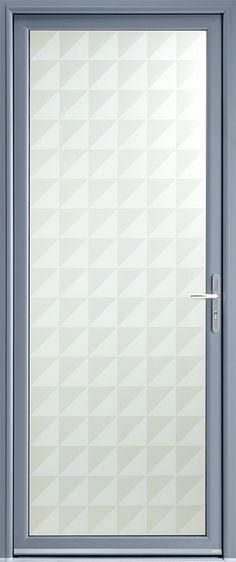 Modèle Marsa Porte du0027entrée aluminium contemporaine petit vitrage Un