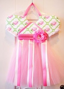 Babydoll Boutique Rose Lattice Tutu Bow Holder - Pink Baby Boutique