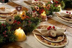idées de décoration de table pour Noël faite à la maison