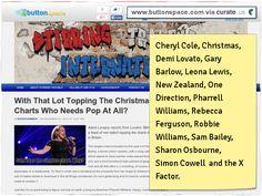 Cheryl Cole, Christmas, Demi Lovato, Gary Barlow, Leona Lewis, New Zealand, One Direction, Pharrell Williams, Rebecca Ferguson, Robbie Williams, Sam Bailey, Sharon Osbourne, Simon Cowell and the X Factor.