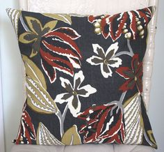 Abstract Jungle. Brown. Black. Tan. Cream Pillow Cover. by MCCHome, $19.00