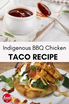 These tacos are crispy on the outside, light and fluffy on the inside. You can use any style of meat and toppings, but one of our favourites is caramelized grilled BBQ chicken. Grilled Bbq Chicken, Chicken Tacos, Chicken Taco Recipes, Dinner Tonight, Slow Cooker Recipes, Easy Dinner Recipes, Food Network Recipes, Entrees, Tasty