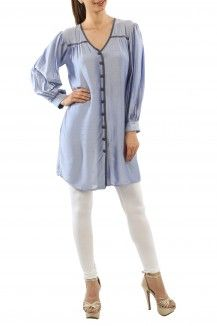 Button Down Long Tunic By Bhusattva