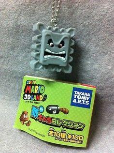 "Japan Gashapon ""Super Mario 3D Land"" Enemy Mini Figure - TAIL THWOMP"