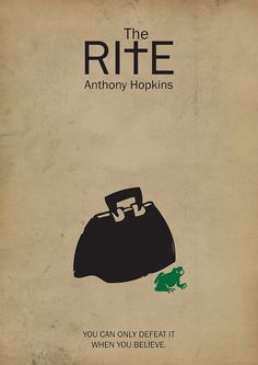 The Rite ~ Minimal Movie Poster by Besim Hakramaj The Rite Movie, Love Movie, Minimal Movie Posters, Minimal Poster, Movie Poster Art, Film Posters, Art Posters, Sir Anthony Hopkins, Best Book Covers