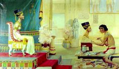 Queen Nefertiti  by Harvey Spencer Lewis - American , 1883 - 1939   Egypt - Old Cairo Paintings