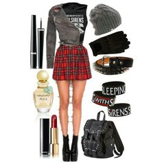 Sleeping with sirens outfit, I would probably add a pair of leggings