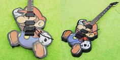 Artists Create An Amazing Paper Mario Guitar That Doesn't Sound Flat At All!