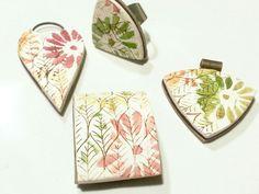 Moiko silkscreen and stencils on polymer clay