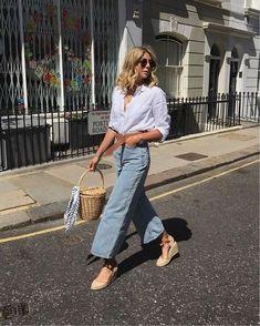 Parisian Style Fashion, Fashion Blogger Style, Retro Fashion, Womens Fashion, Fashion Bloggers, French Fashion, Vintage Fashion, Denim Fashion, Look Fashion