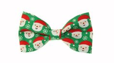 Clip On Bow Ties, Boys Bow Ties, Green Santa, Red Green, Music Clips, Bow Tie Collar, Tie And Pocket Square, Cute Illustration, Bows