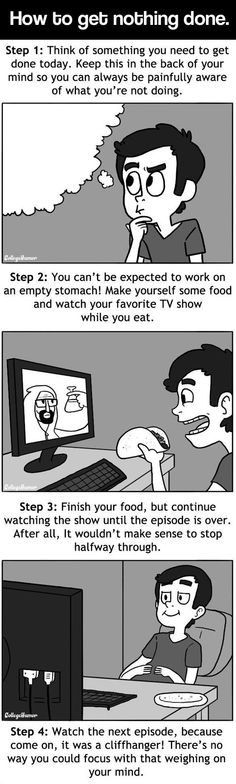 Follow these steps and get nothing done…