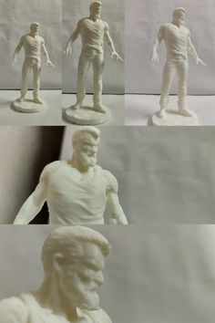 3DPlanet_3D Printed Wolverine_White PLA Filament_Creality Ender-3