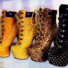Timberland Boots w/ heel