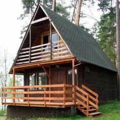 Les Chalets en bois www. Wooden House Plans, Cabin House Plans, Tiny House Cabin, Tiny House Plans, Tiny Log Cabins, Cabins And Cottages, Cabin Design, Small House Design, Mini Chalet