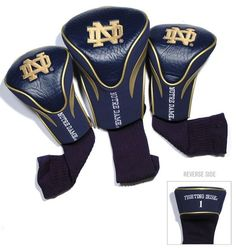 Notre Dame Fighting Irish Golf Club 3 Piece Contour Headcover Set Z157-3755622794
