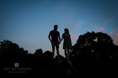 Silhouette engagement photo