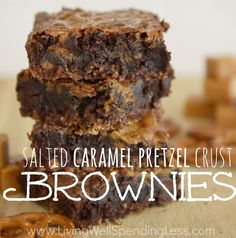 These semi-homemade Salted Caramel Pretzel Brownies might just be the world's most perfect treat! The best part? Less than an hour from start to finish!