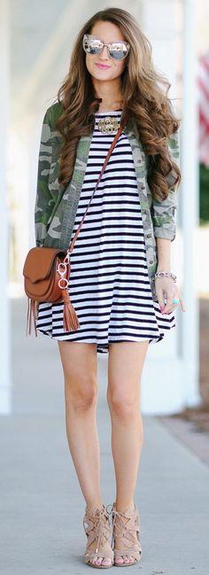 A Chic Way to Wear Camo