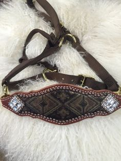 Brown navajo halter Mandy's Custom Tack