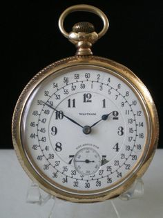 Vintage Watches Collection : Waltham 23 Jewel Vanguard Railroad Pocket Watch Rare Special Montgomery Dial - Watches Topia - Watches: Best Lists, Trends & the Latest Styles Antique Watches, Antique Clocks, Vintage Watches, Old Clocks, Old Pocket Watches, Pocket Watch Antique, Railroad Pocket Watch, Grandfather Clock, Luxury Watches For Men