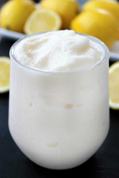 This Copycat Chick-Fil-A Frosted Lemonade Recipe will having you thinking it;s the real thing.  Tart. creamy and cool this is the perfect summer drink!